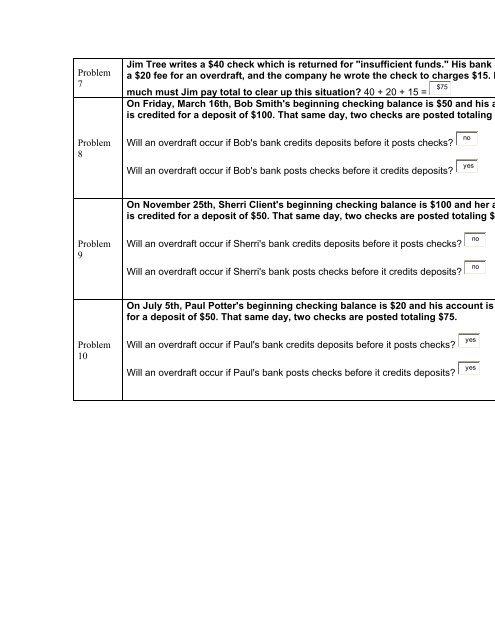Problem 7 Jim Tree writes