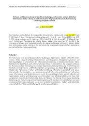 Prüfungs- und Studienordnung - Department Information - HAW ...