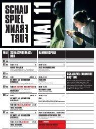 a 20.00 zum letzten mal in dieser spielzeit! - Schauspiel Frankfurt