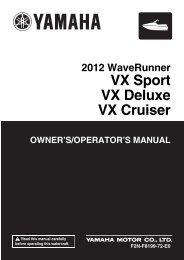 Yamaha VX - 2012 - Manuale d'Istruzioni English