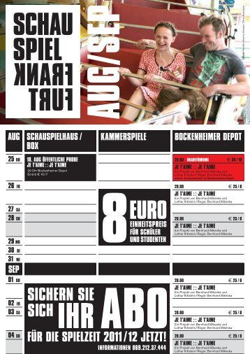 JE T'AIME - Schauspiel Frankfurt