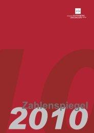 JGU Zahlenspiegel 2010 - Johannes Gutenberg-Universität Mainz