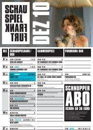 SCHNUPPER - Schauspiel Frankfurt