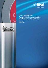 Norm-Kreiselpumpen Pompes centrifuges ... - PumpSelector
