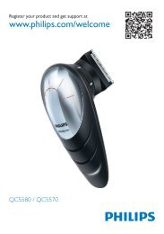 Philips Norelco DIY cordless hair clipper - Quick start guide - SWE