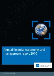 Annual financial statements 2010 - Euler Hermes ...