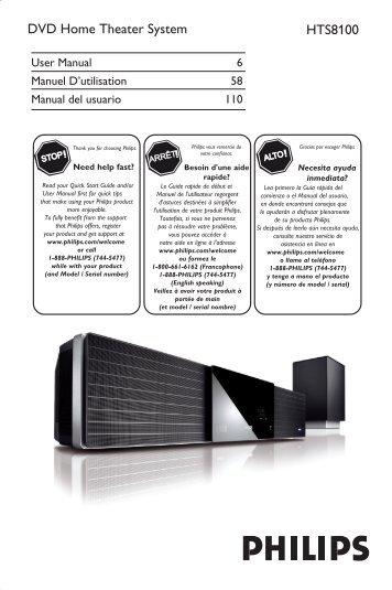 Philips Cineos Soundbar Dvd Home Theater User Manual Aen