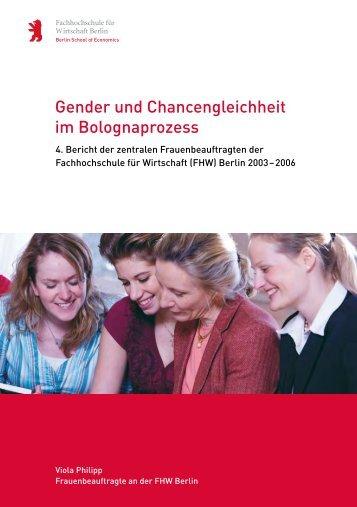 Gender und Chancengleichheit im Bolognaprozess - HWR Berlin