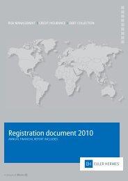 Registration document 2010 - Euler Hermes