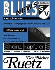 Blues News 228: Heimspieltag gegen den SC Sparkasse Imst