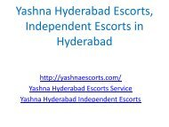 Yashna Hyderabad Escorts, Independent Escorts in Hyderabad