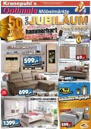Kranepuhl's Optimale Möbelmärkte: Möbel + Küchen hammerhart reduziert!