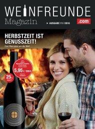 Weinfreunde Magazin - Ausgabe 11/2016