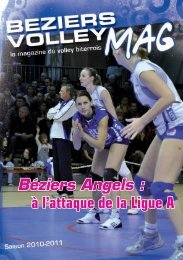 à l'attaque de la Ligue A Béziers Angels : - Béziers Volley