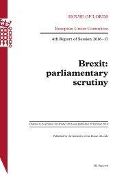 Brexit parliamentary scrutiny