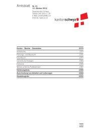 Amtsblatt Nr. 41 vom 12. Oktober 2012 - Kanton Schwyz