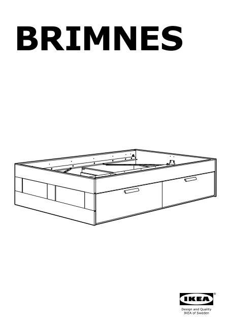 Ikea BRIMNES Cadre Lit Avec Rangement S Notice Et Plan De - Cadre de lit avec rangement ikea