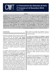 Le Financement des Attentats de Paris (7-9 Janvier et 13 Novembre 2015)