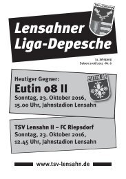 Lensahner Liga-Depesche Nr. 06, Saison 2016/17