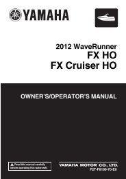 Yamaha FX HO Cruiser - 2012 - Manuale d'Istruzioni English