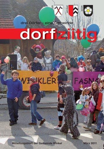 Dorfziitig März 2011 - Gemeinde Winkel