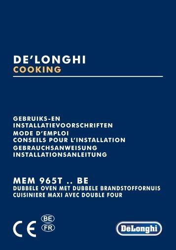 Delonghi Piano de cuisson gaz Delonghi MEM965TX - notice