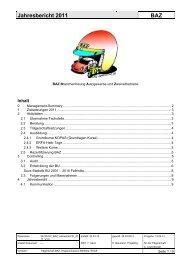 Jahresbericht 2011 BAZ - AGVS