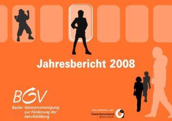 Jahresbericht 2008 - KMU-Channel Gewerbeverband Basel-Stadt