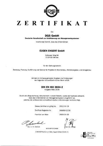 ZERTIFIKAT - Eugen Engert GmbH