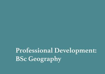Bsc Geography booklet