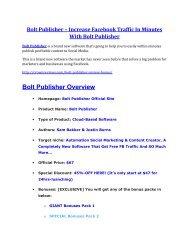Bolt Publisher Review and $30000 Bonus - Bolt Publisher 80% DISCOUNT