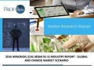 MINOXIDIL (CAS 38304-91-5) INDUSTRY REPORT