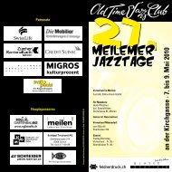 an der Kirchgasse · 7. bis 9. Mai 2010 - Olt Time Jazz Club