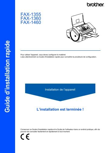 Brother FAX-1460 - Guide d'installation rapide