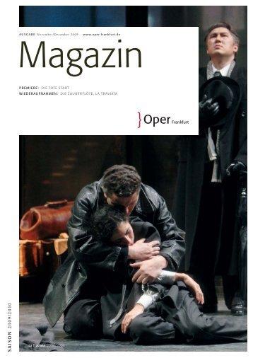 Opernmagazin November - Oper Frankfurt