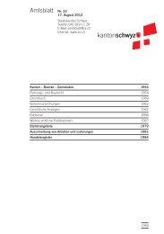Amtsblatt Nr. 33 vom 17. August 2012 - Kanton Schwyz