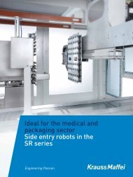 Side entry robots in the SR series - Krauss Maffei