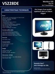 Asus Ecran PC Asus VS228DE - fiche produit