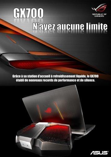 Asus PC Gamer Asus GX700VO-GC009T Gris Metal - fiche produit