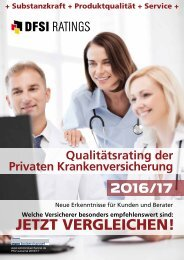 Qualitätsrating der Privaten Krankenversicherung 2016/17