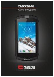 Crosscall Smartphone Crosscall Trekker M1 Noir - notice