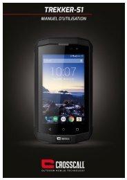 Crosscall Smartphone Crosscall Trekker S1 Noir - notice