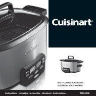 Cuisinart Mijoteuse Cuisinart MSC600E - notice