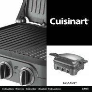Cuisinart Grille-viande Cuisinart GR40E - notice