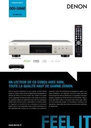 Denon Platine CD Denon DCD520 SILVER - fiche produit