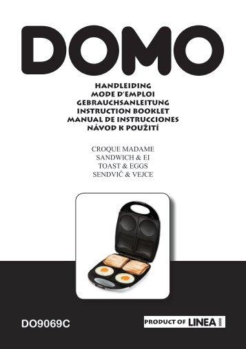 Domo Croque monsieur Domo DO9069C CROQUE MADAME - notice