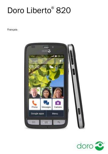 Doro Smartphone Doro Liberto 820 noir - notice
