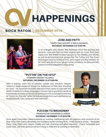 Boca Raton December 2016 Happenings