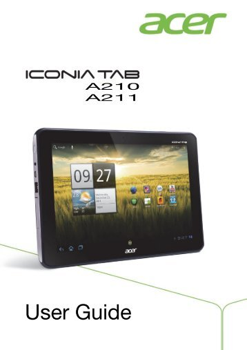 manual usuario tablet acer iconia a100 how to and user guide rh taxibermuda co Acer A200 Acer A200