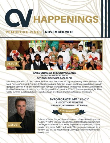 Pembroke Pines November 2016 Happenings